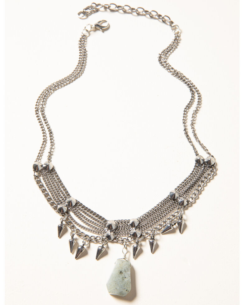 Idyllwind Women's Spike & Sparkle Necklace, Silver, hi-res