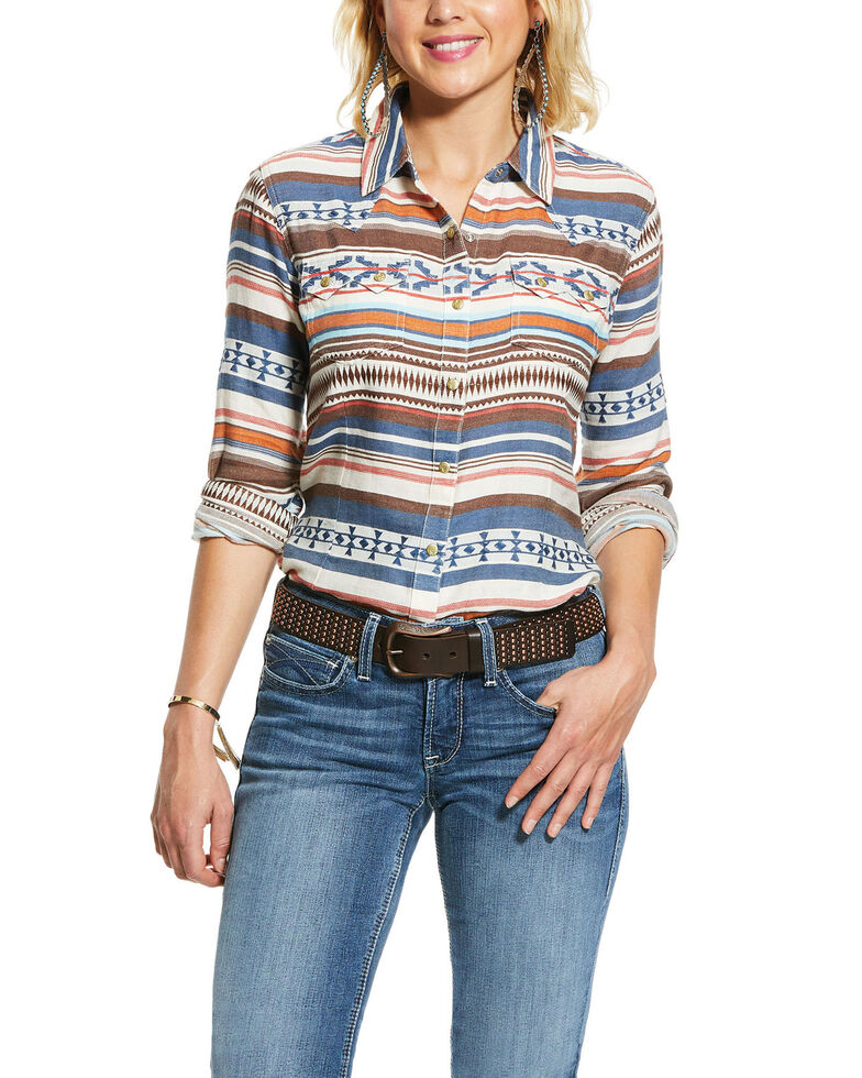 Ariat Women's R.E.A.L. Tribal Long Sleeve Western Shirt, Multi, hi-res
