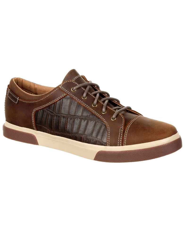 Durango Men's Music City Gator Embossed Sneakers - Round Toe, Brown, hi-res
