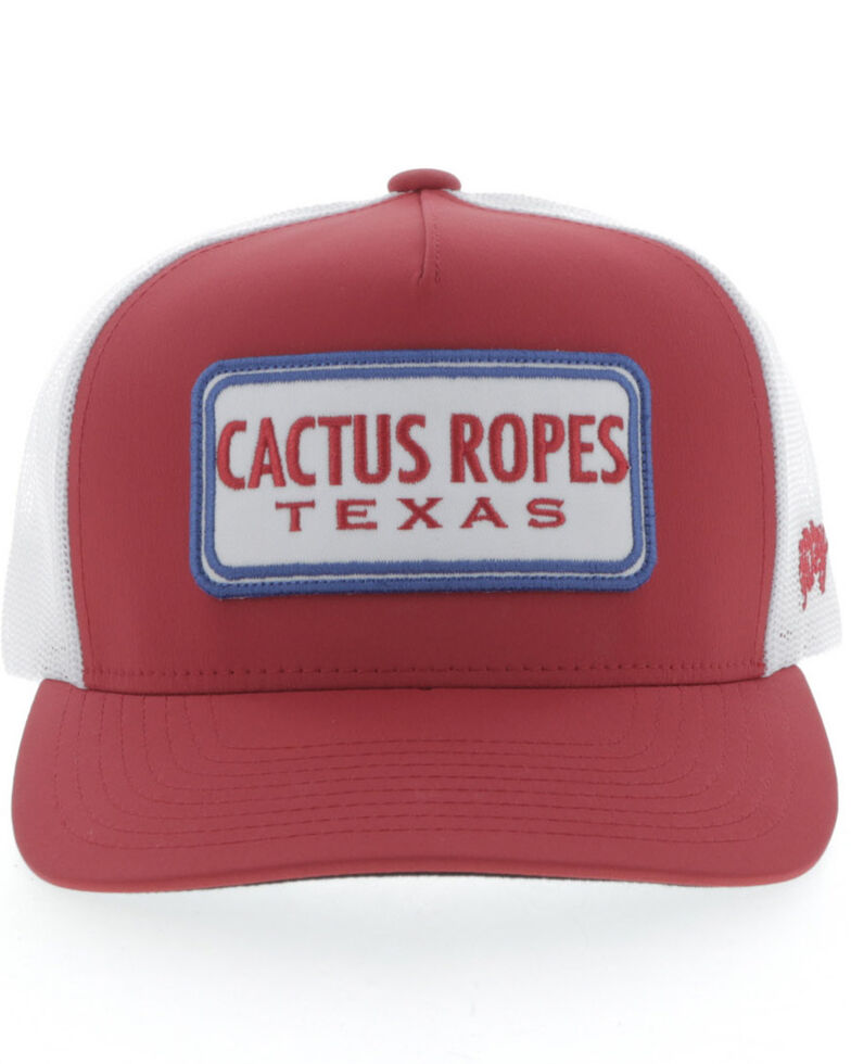 Hooey Boys' Red Cactus Ropes Mesh Ball Cap , Red, hi-res