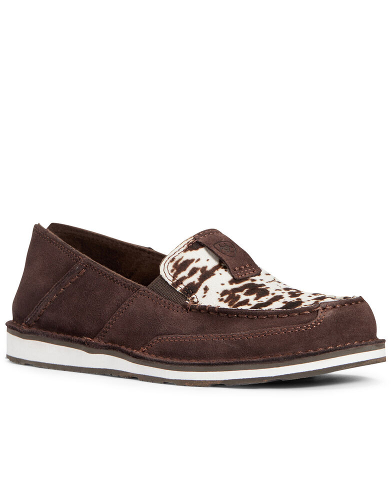 Ariat Women's Chocolate Chip Cruiser Shoes - Moc Toe, Brown, hi-res