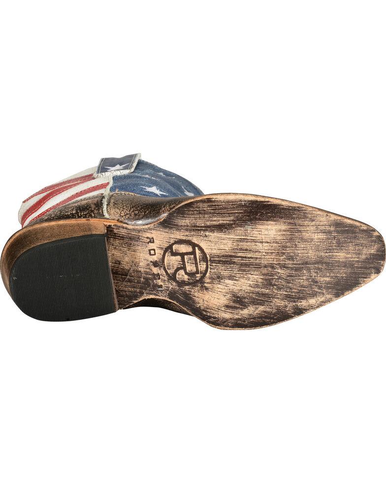 Roper Americana Patriotic Boots - Snip Toe, Brown, hi-res