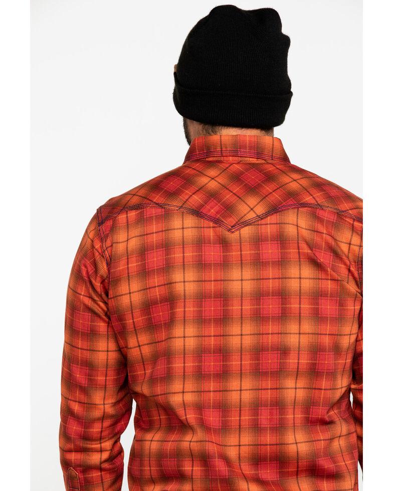 Wrangler Men's Orange 20X FR Long Sleeve Fashion Plaid Shirt - Big, Orange, hi-res