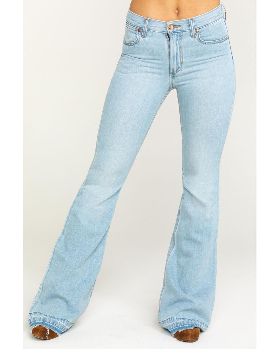 Wrangler Women's Heritage Tencel Flare Jeans, Light Blue, hi-res
