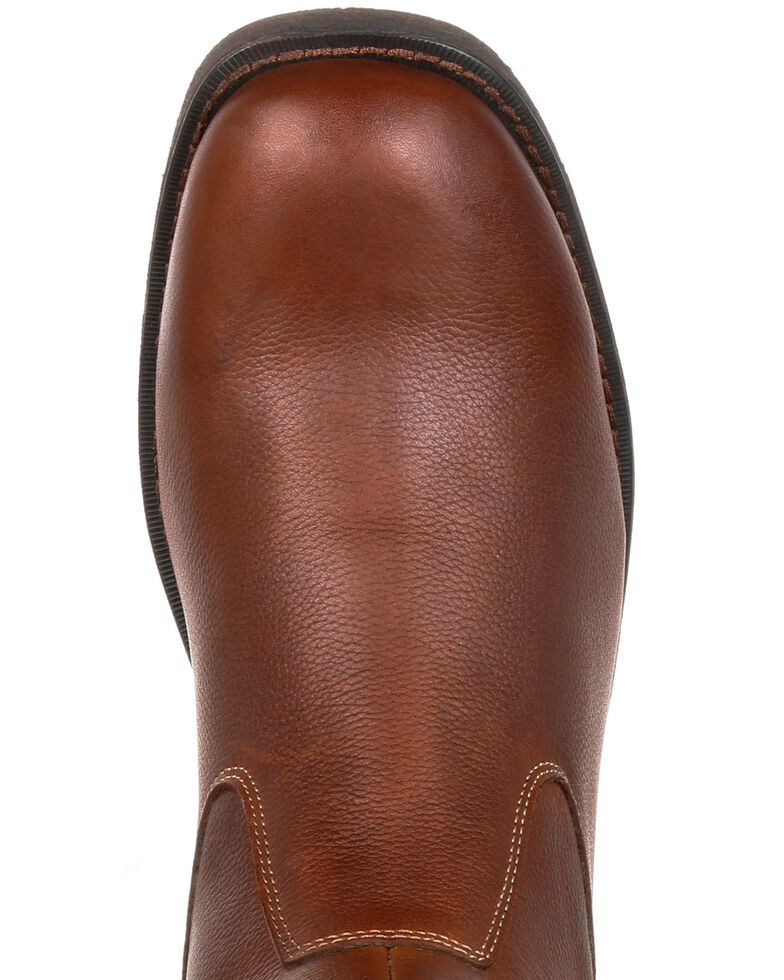 Durango Men's Drifter Side-Zip Boots - Round Toe, Dark Brown, hi-res