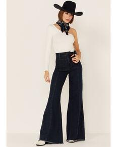 Show Me Your Mumu Women's Medium Wash Ashbury High Rise Flare Jeans, Blue, hi-res