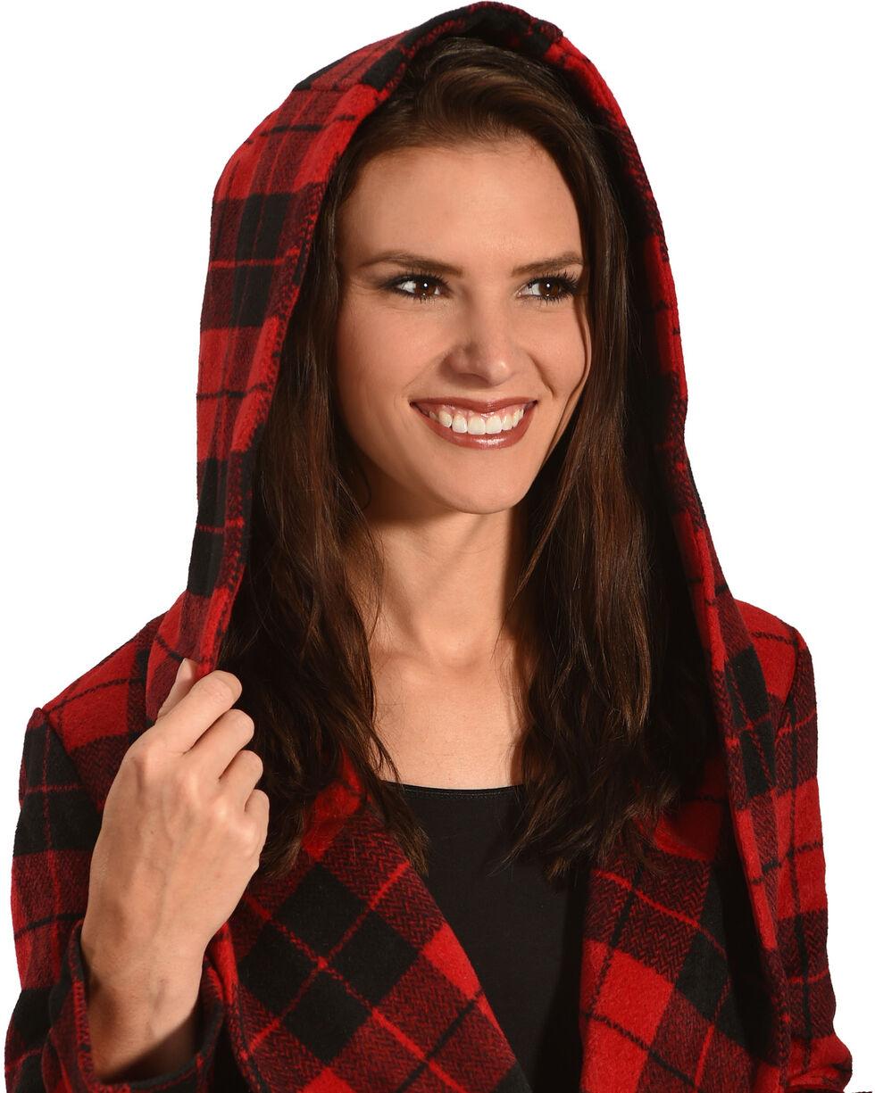 Jack Women's Stanley Buffalo Plaid Wrap Coat, Red, hi-res