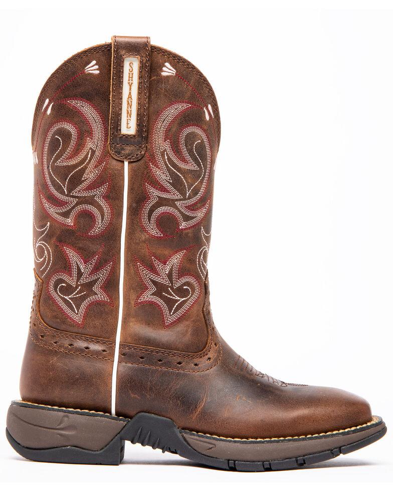 Shyanne Women's Xero Gravity Lite Western Boots - Wide Square Toe, Brown, hi-res