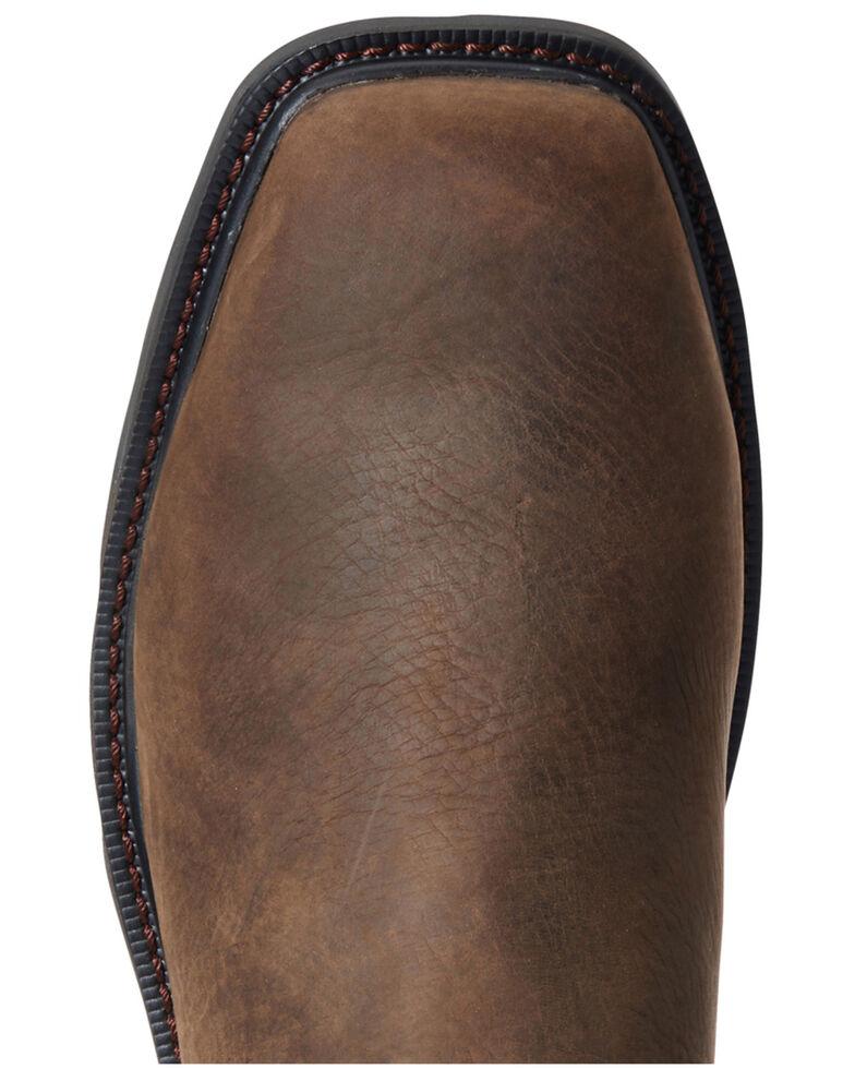 Ariat Men's Groundbreaker Water Resistant Work Boots - Steel Toe, Brown, hi-res