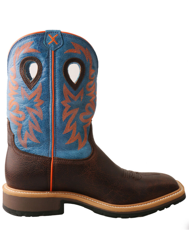 Twisted X Men's Embroidered Western Work Boots , , hi-res
