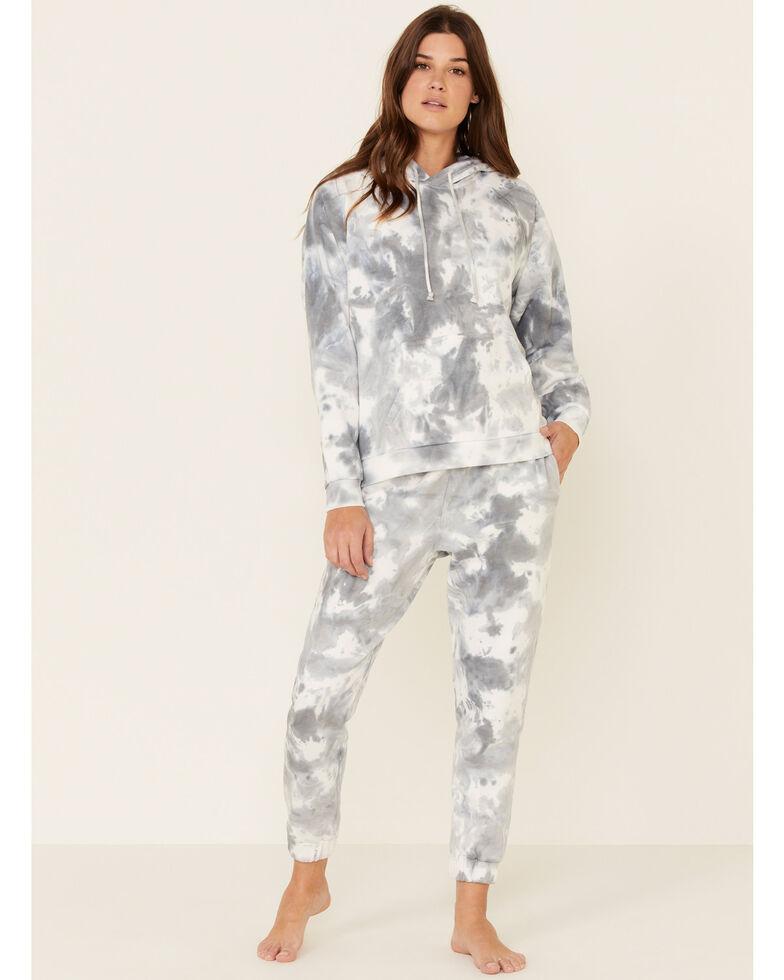 Beyond The Radar Women's Cloud Tie Dye Hooded Sweatshirt , Blue, hi-res
