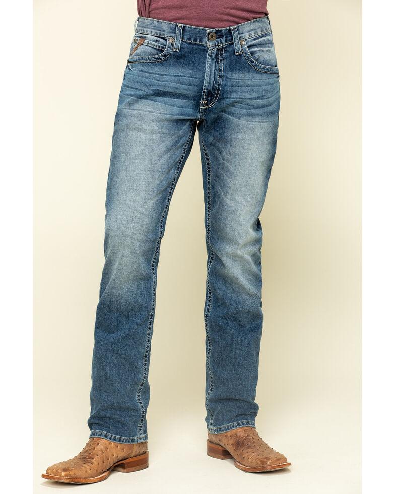 Ariat Men's M4 Dakota Low Stretch Stackable Slim Straight Jeans - Big , Blue, hi-res