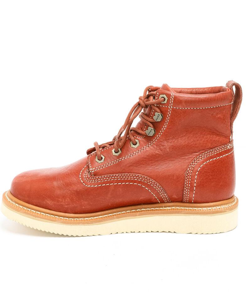 Hawx Men's Grade Wedge Work Boots - Nano Composite Toe, Red, hi-res