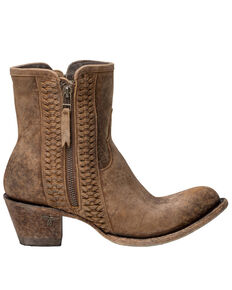 Lane Women's Layten Western Booties - Round Toe, Tan, hi-res
