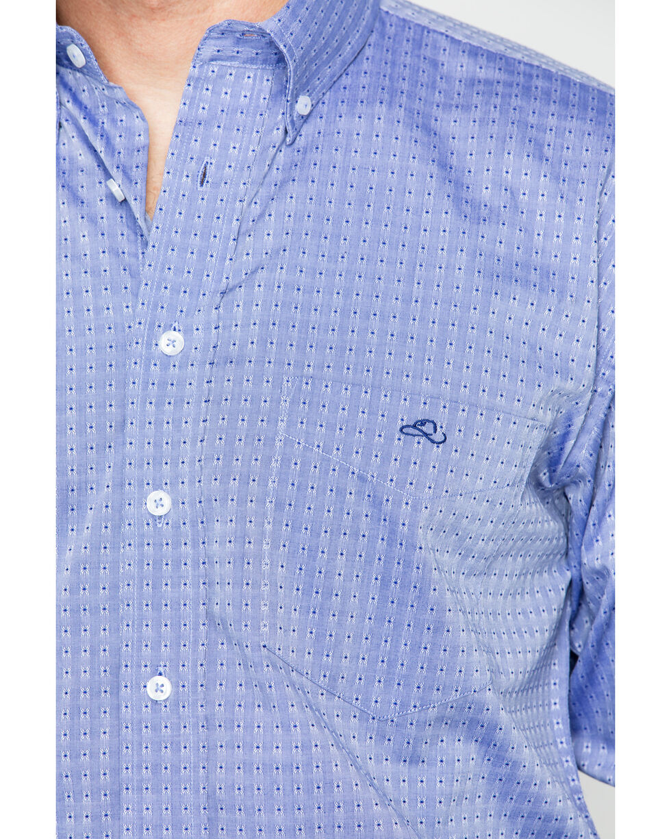 Resistol Men's Holbrook Button Down Long Sleeve Shirt, Blue, hi-res