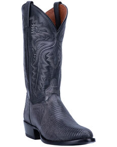 Dan Post Men's Grey Winston Lizard Western Boots - Round Toe, Grey, hi-res