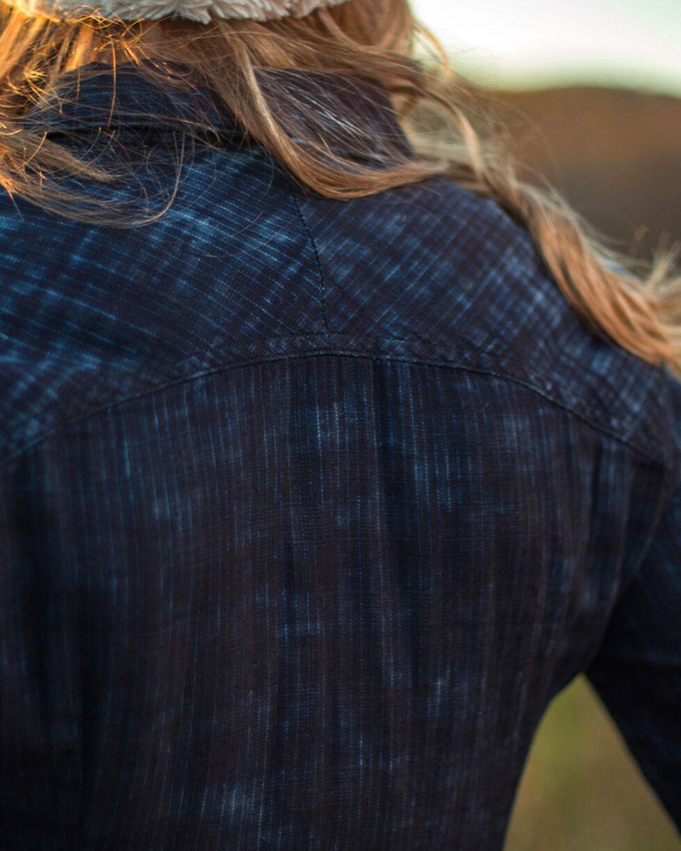Ryan Michael Women's Indigo Flared Sleeve Shirt, Indigo, hi-res