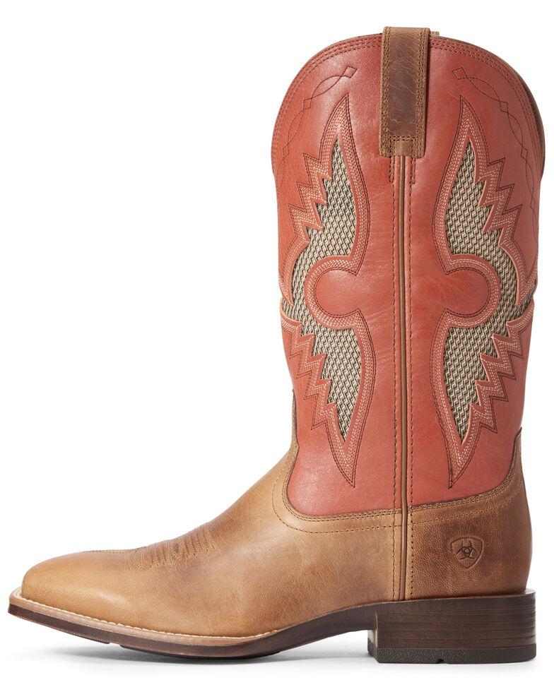 Ariat Men's Solado VentTEK Western Boots - Wide Square Toe, Brown, hi-res