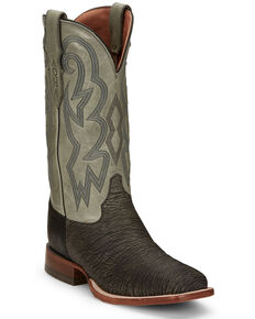 Justin Men's Mingus Grey Western Boots - Square Toe, Grey, hi-res