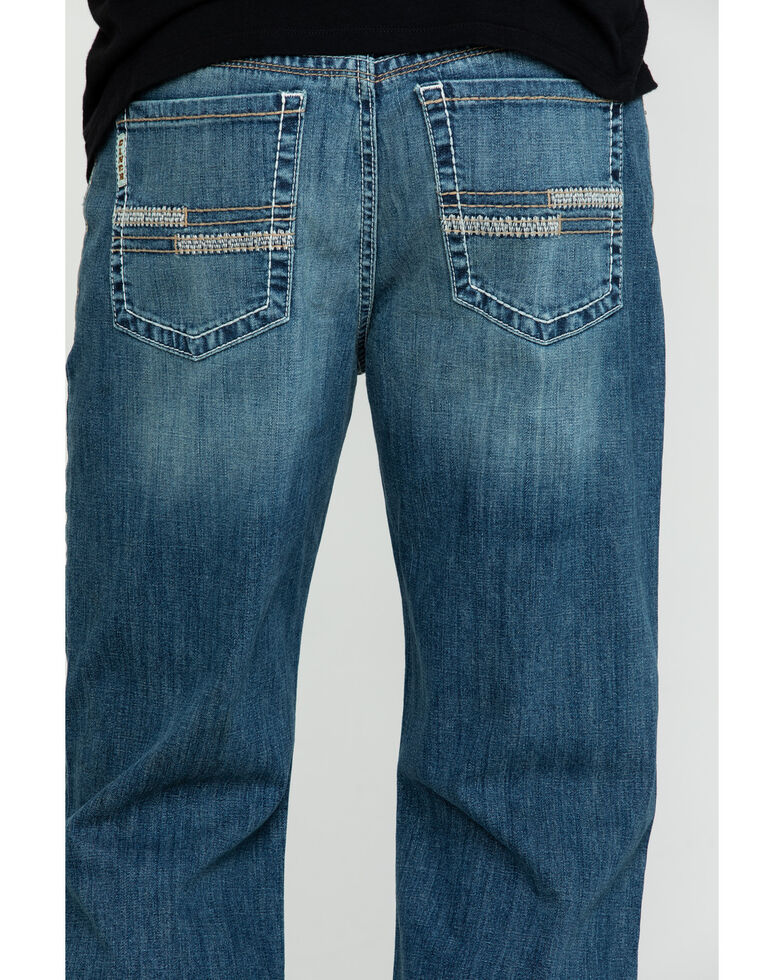 Cinch Men's Grant Medium Stonewash Mid Relaxed Boot Jeans , Indigo, hi-res