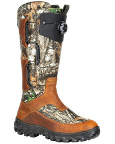 Rocky Men's King Snake Boa Waterproof Snake Boots - Soft Toe, Bark, hi-res