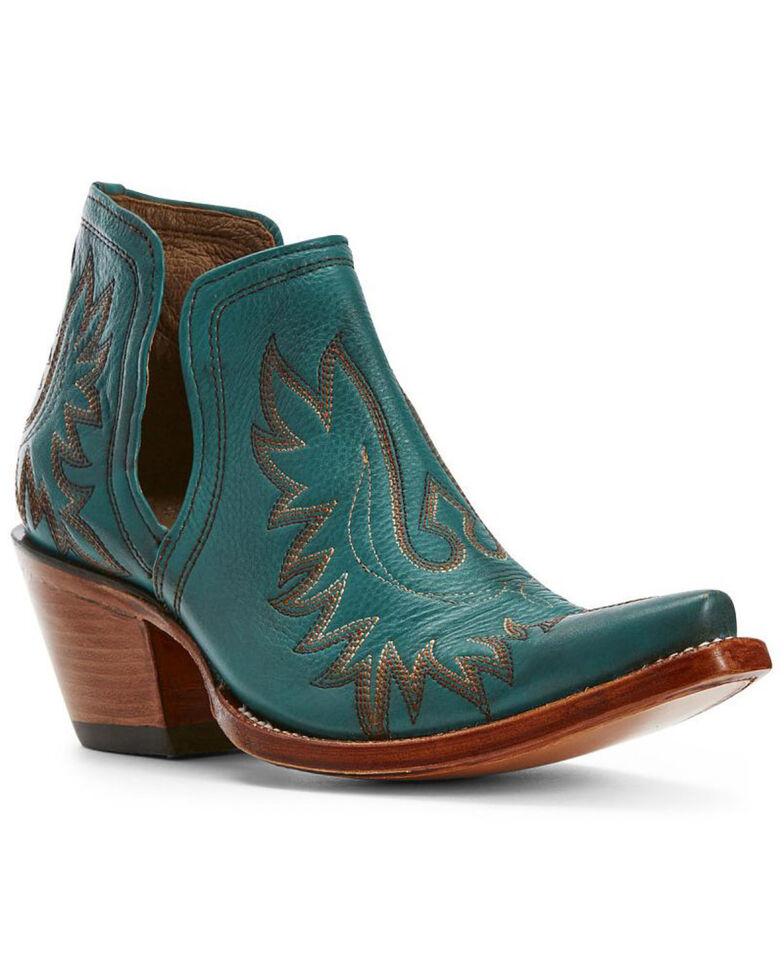 Ariat Women's Dixon Agate Western Booties - Snip Toe, Turquoise, hi-res
