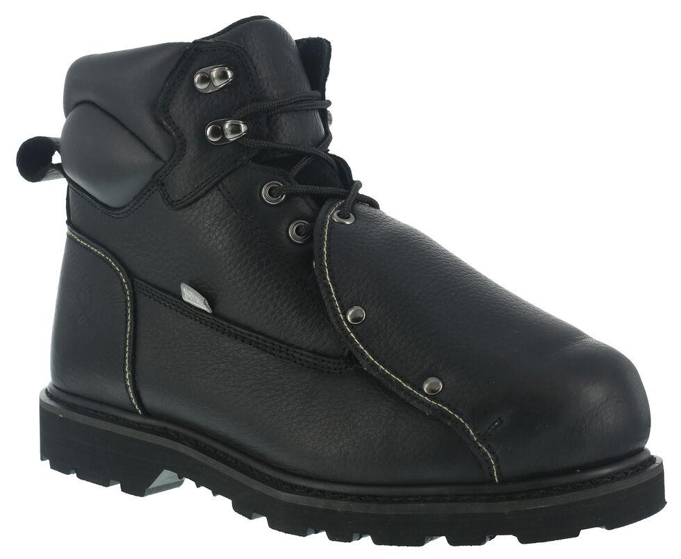 Iron Age Men's Ground Breaker Met Guard Work Boots - Steel Toe, Black, hi-res