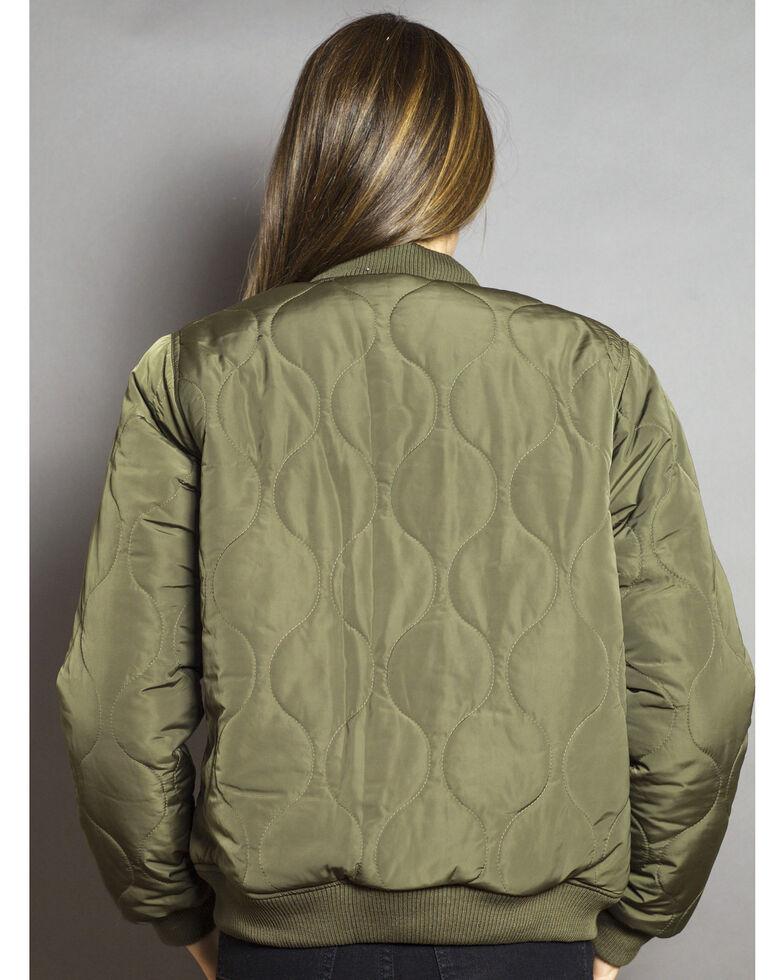 Kimes Ranch Women's Marino Bomber Jacket, Green, hi-res