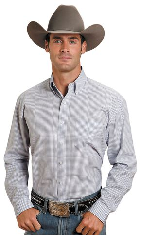 Stetson Plaid Button Shirt, Blue, hi-res