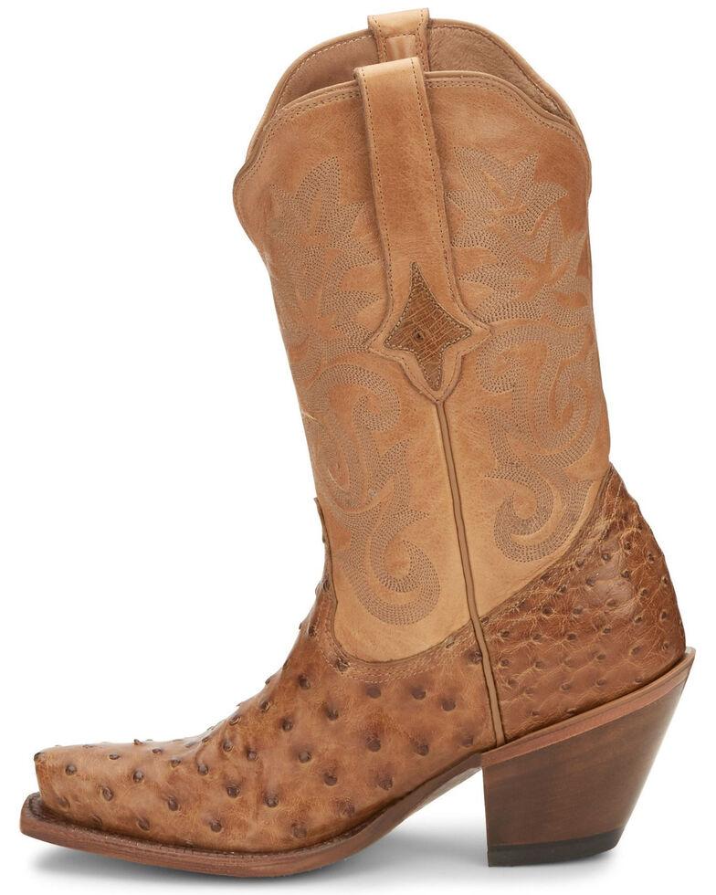 Tony Lama Women's Mindy Saddle Western Boots - Snip Toe, Tan, hi-res