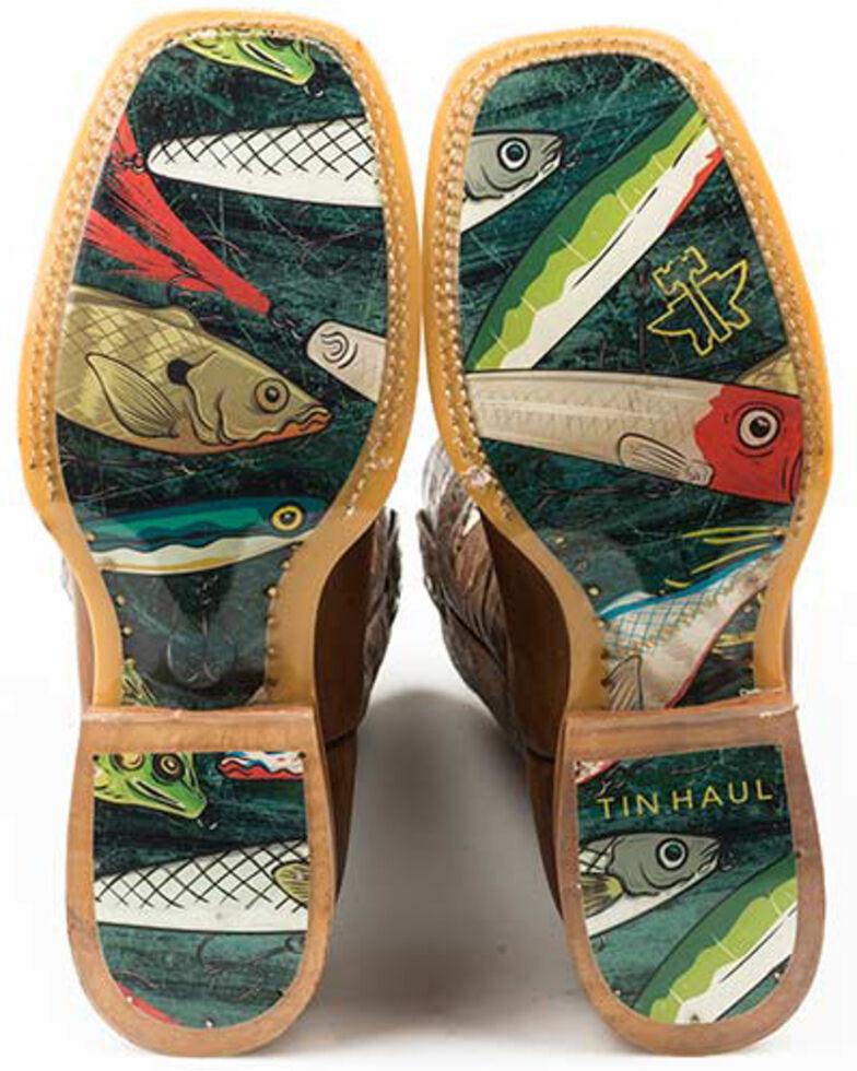 Tin Haul Men's Alpha Angler Western Boots - Wide Square Toe, Brown, hi-res