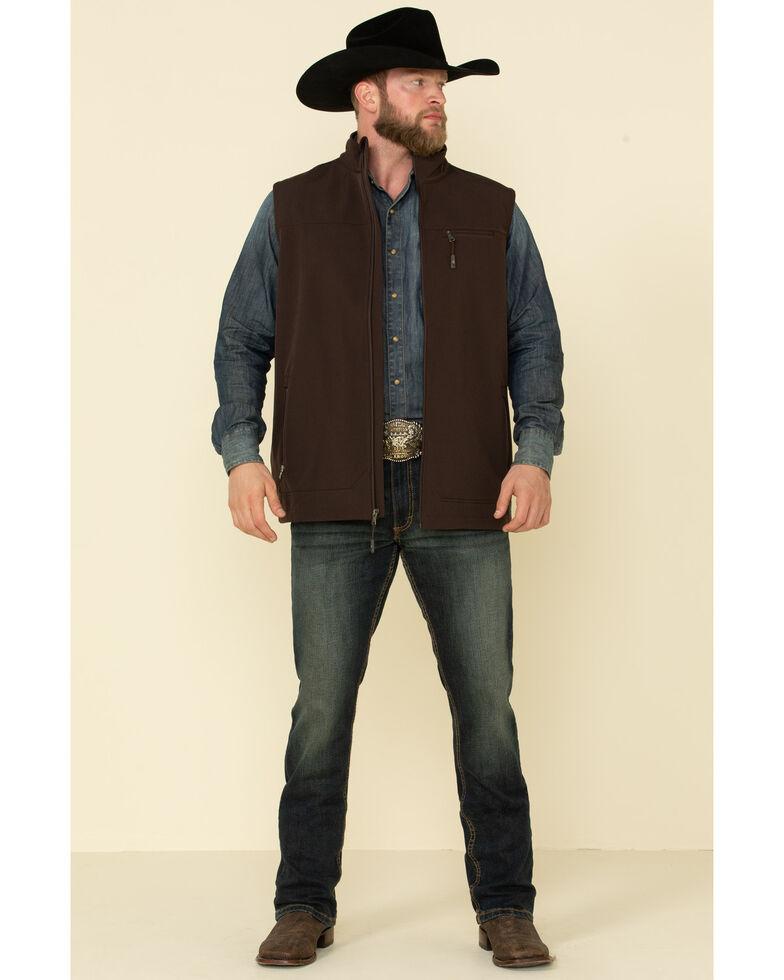 Cody James Core Men's Brown Wrightwood Zip Front Vest - Tall , Brown, hi-res