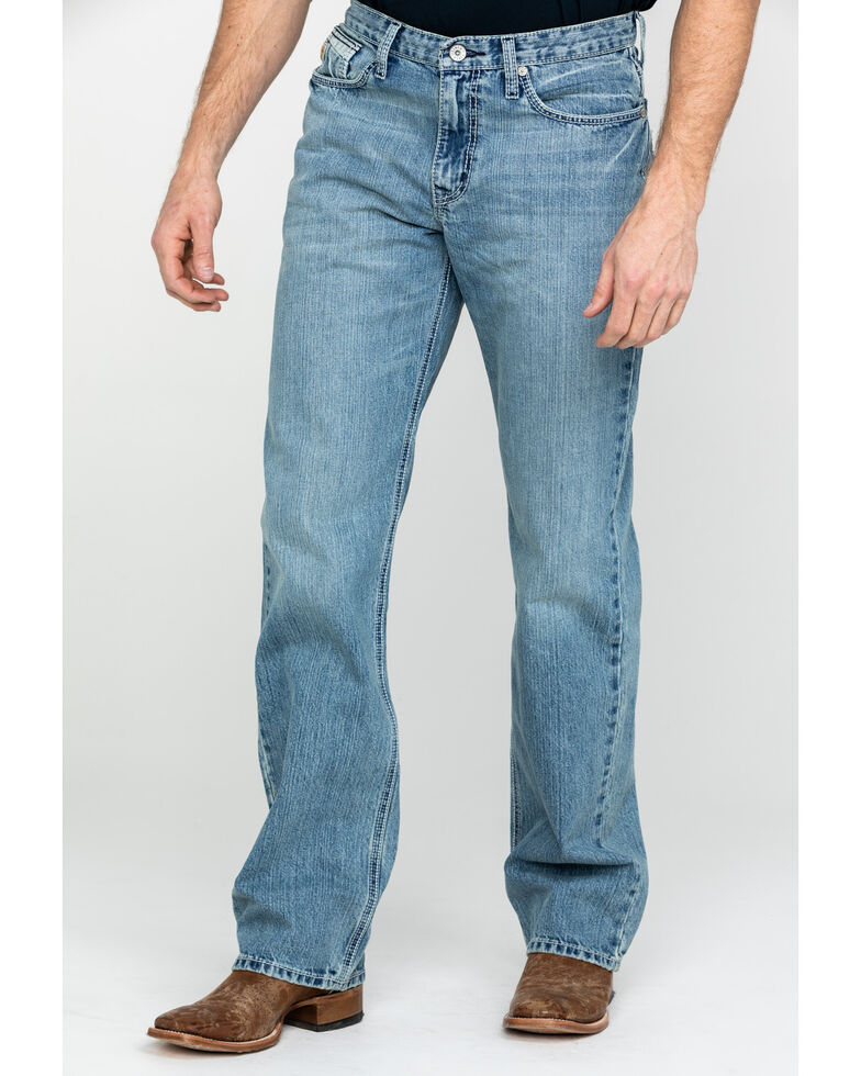 Cinch Men's Grant Light Relaxed Boot Jeans , Blue, hi-res