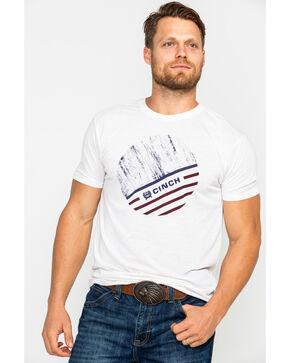Cinch Men's Circular Front Screen Print T-Shirt , Heather Cream, hi-res