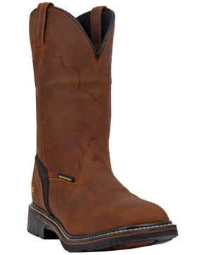 Dan Post Men's Lubbock Waterproof Western Work Boots - Wide Square Toe, Tan/copper, hi-res