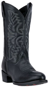 Laredo Men's Birchwood Cowboy Boots - Medium Toe , Black, hi-res
