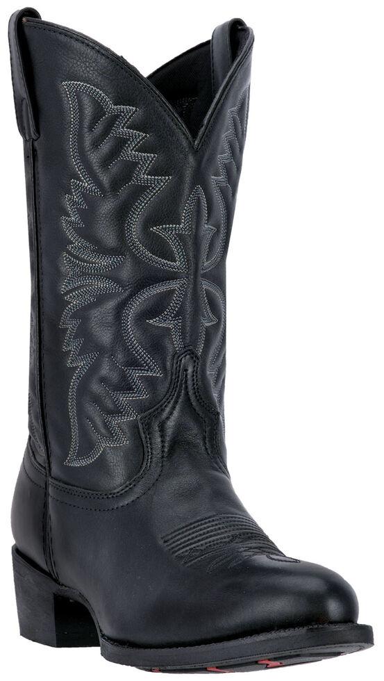 Laredo Men's Birchwood Cowboy Boots - Medium Toe , Black, hi-res