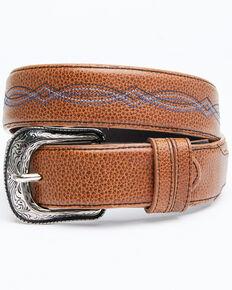 Cody James Men's Blue Stitched Belt, Brown, hi-res