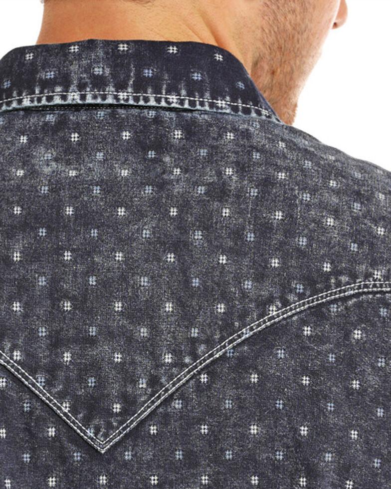 Rock & Roll Cowboy Men's Indigo-Dyed Double Weave Long Sleeve Snap Shirt, Indigo, hi-res