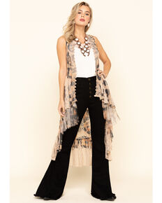 Origami Women's Leopard Print Lace Vest, Leopard, hi-res