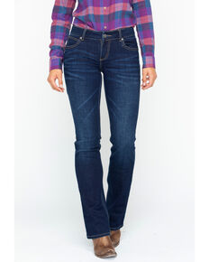 Wrangler Retro Women's Mae Nashville Mid-Rise Boot Cut Jeans, Indigo, hi-res
