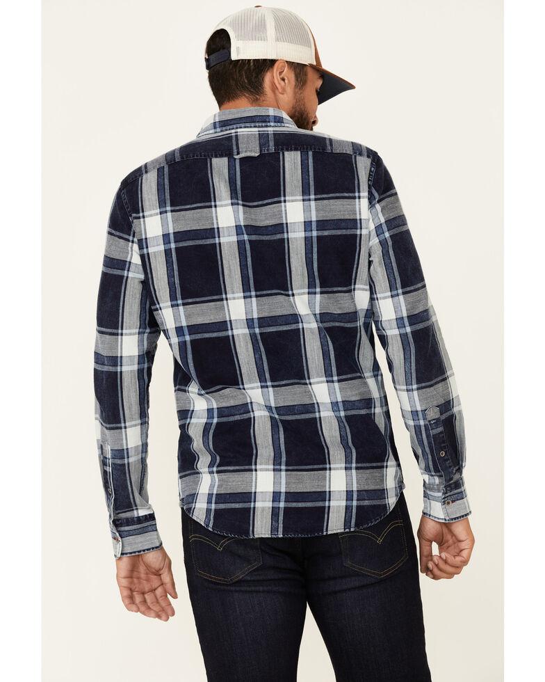 Flag & Anthem Men's McLennan Alpine Blue Vintage Plaid Long Sleeve Snap Western Shirt , Blue, hi-res