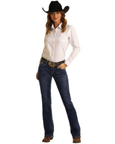 Panhandle Women's Juniors Bootcut Jeans, Blue, hi-res