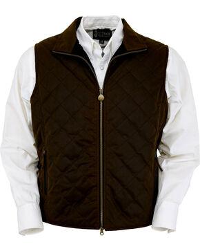 Outback Trading Co. Men's Bronze Harrington Quilted Vest , Bronze, hi-res