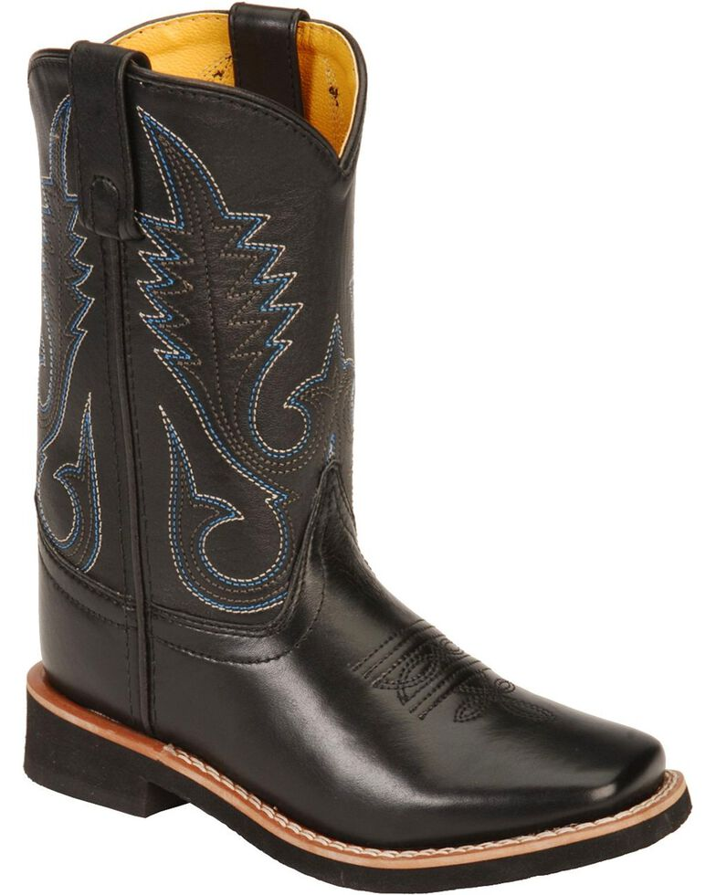 Smoky Mountain Child's Black Western Boots - Square Toe, Black, hi-res