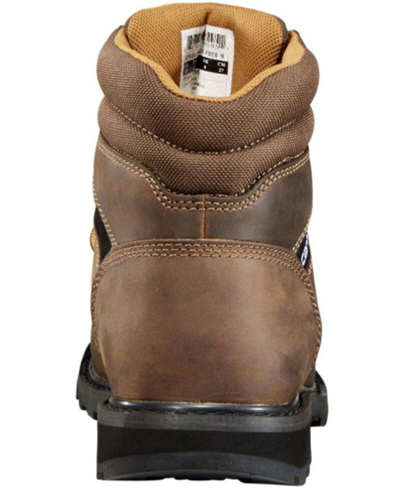 "Carhartt Men's 6"" Lace-Up Work Boots - Steel Toe, Brown, hi-res"