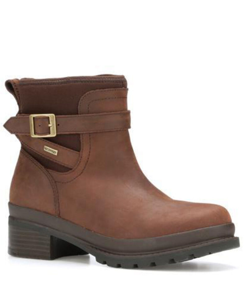 Muck Boots Women's Liberty Ankle Rubber Boots - Round Toe, Brown, hi-res