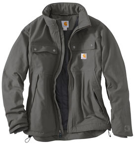 Carhartt Quick Duck® Jefferson Traditional Jacket, Charcoal Grey, hi-res