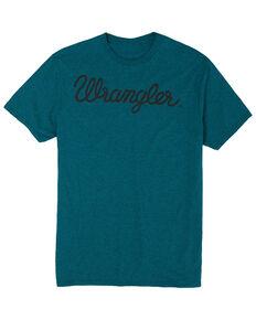 Wrangler Men's Turquoise Signature Logo Graphic T-Shirt , Turquoise, hi-res