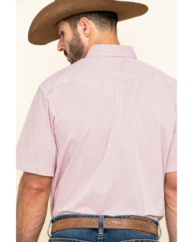 Ariat Men's Nemano Small Geo Print Short Sleeve Western Shirt - Tall , White, hi-res